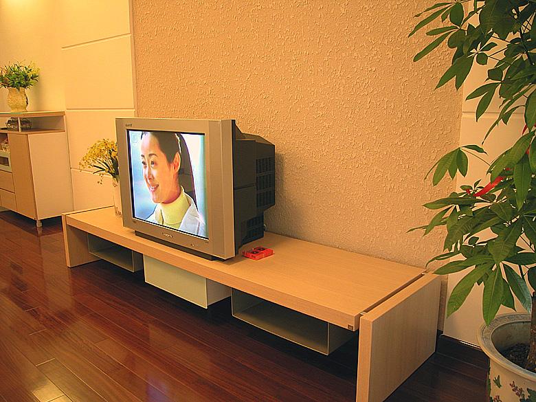 木工做电视柜样图