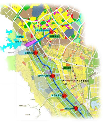 龙华地铁4号线地图分布图