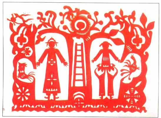 中国剪纸艺术简介:; 瑞丽傣族剪纸;;