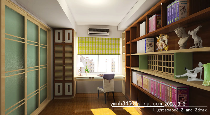 俺们狭窄的小书房 室内装修效果图参考