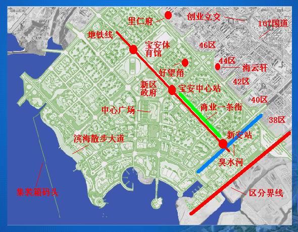 > 宝安新中心区地图2