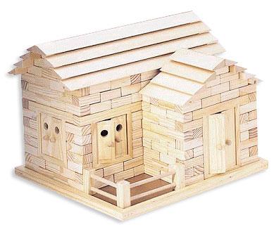的小木块组成,每块上都有凹槽和凸点