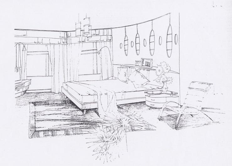 简单儿童卧室手绘图