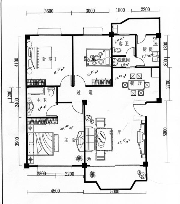 90个平方房子设计图