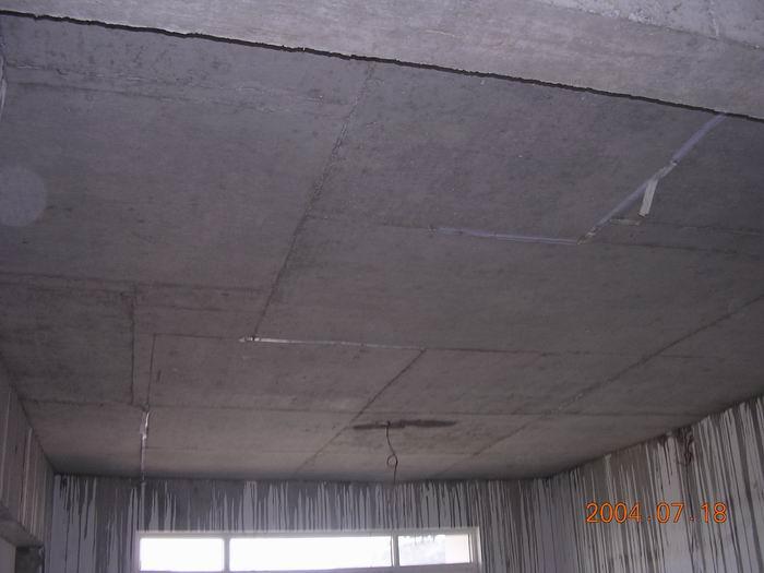 丰泽湖山庄做好的楼板下部