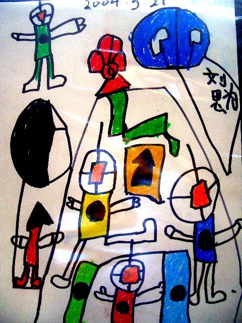 明泉幼儿园巡礼 】之二:色彩飞扬的儿童画