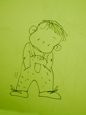 宝宝坐马桶简笔画