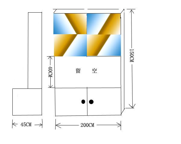 找木工做图示的三个柜子