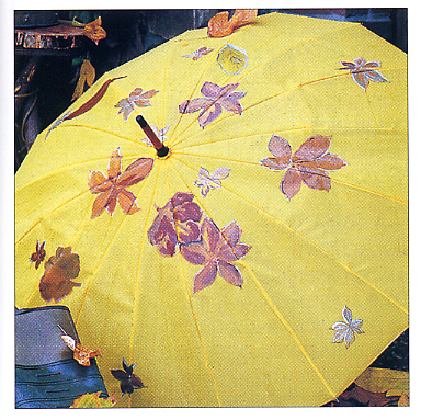 儿童手绘雨伞画