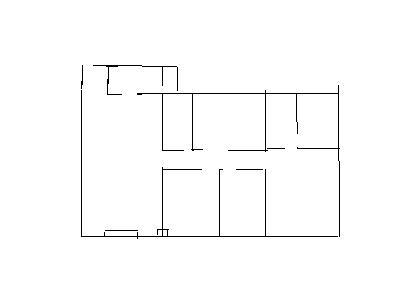 房屋平面图,客厅阳台为推拉门.150多平米