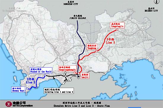 深圳地铁4号线路线图_盛世家园二期