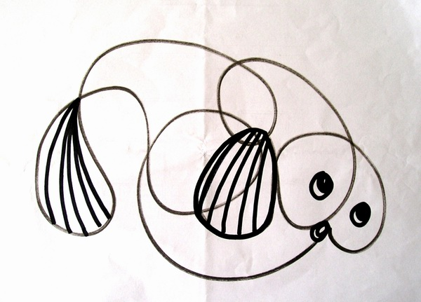 多姿多彩的儿童线条装饰画