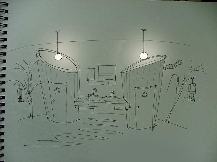 房子装修设计素描