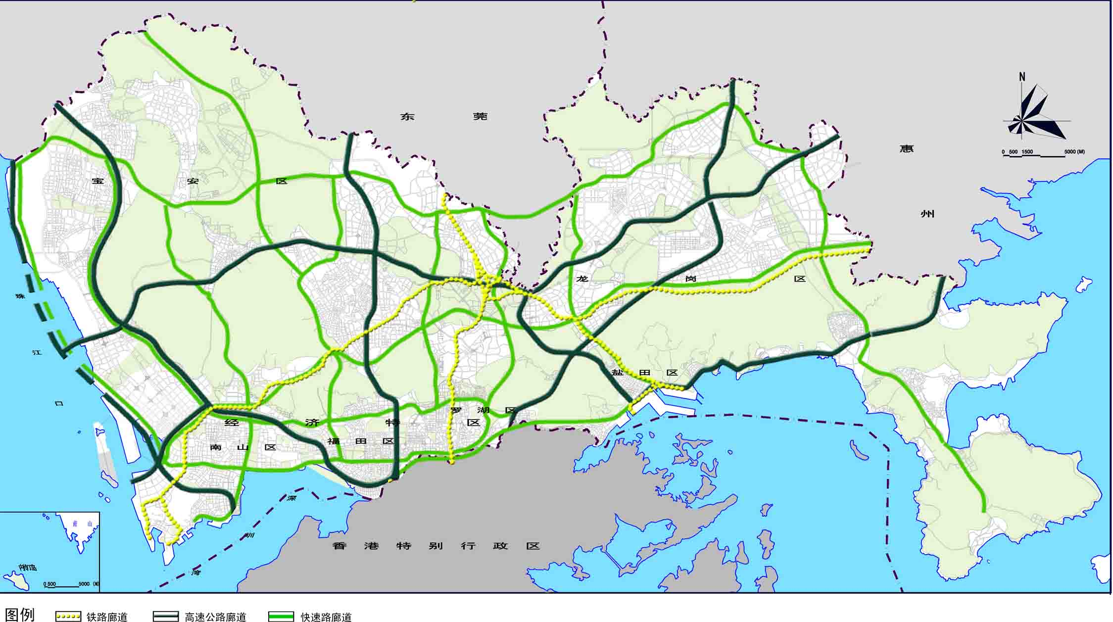 铁路,高速公路