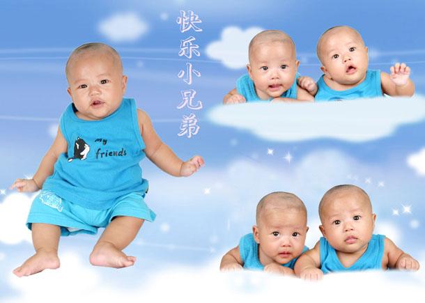 我家双胞胎宝宝的百日照